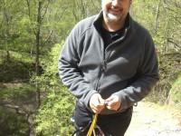 Adam enjoying some ropework at Yarncliffe